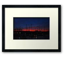 Right out My Backyard Series: Magic Happens at Night Framed Print