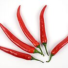 Red hot pepper hand by Pier Luigi Maschietto