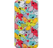 Birds and hearts and colorful blur. iPhone Case/Skin