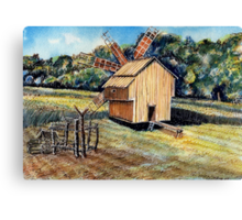 Windmill in the Forest Canvas Print
