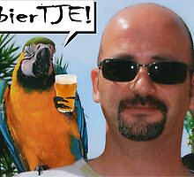 ME & A PARROT with bierTJE! by AnnoNiem Anno1973