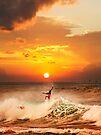 Sunset Surfing by Alex Preiss
