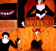 Kisses 50¢ by ©  Paul W. Faust