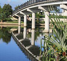 Foot Bridge Over Emerald Lake by aussiebushstick