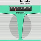 Vintage Transistor Radio - Impala Surf Green by ubiquitoid