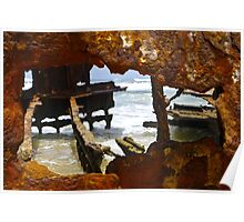 Fraser Island , Maheno Shipwreck  Poster