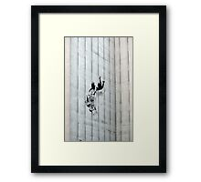 Trolley Girl Fall Framed Print