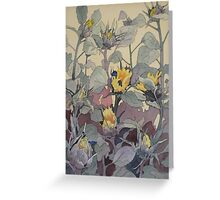 Sunflowers in Bud Greeting Card