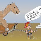 binary options editorial cartoon - greek debt is trojan horse for euro fund by Binary-Options