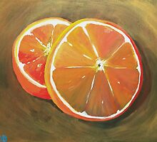 Orange slices by Simon Rudd