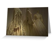 THE WEDDING DRESSES Greeting Card