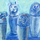 Canopic Blue (pastel) by Niki Hilsabeck