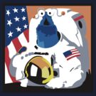 Yip Yip Alien NASA Astronaut T-Shirt by David Benton