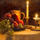 Fruit and candle still life in Vintage. by Bigganvi