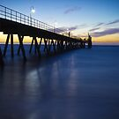 Glenelg Jetty - Sunset/Night by Anthony Radogna