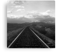 Rail and Road Canvas Print