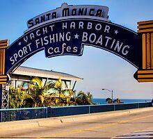 Santa Monica Pier Sign. Series. 1 of 5 by RickyBarnard