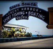 Santa Monica Pier Sign. Series. 3 of 5. Holga Color by RickyBarnard