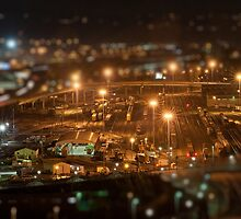 Tacoma Train Yard In Miniature  by Vincent Frank