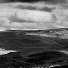 Patchy Sunlight, Bleaklow, Glossop (B&W) by Mark Smitham