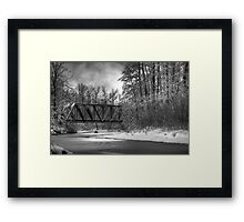 Railroad Bridge over the Wallace River Framed Print