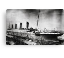 Titanic - Fitting out, Thompson Drydock Canvas Print