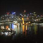 The Sydney Harbour Bridge at Night. by MissKat77