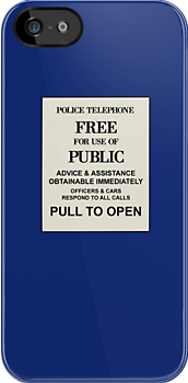 TARDIS Telephone Box by Snufkin