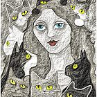 The Lady And Her Cats by Margaret Stevens