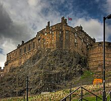 The Castle from the Grassmarket by Tom Gomez
