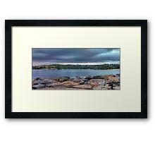The Rocks of Hunter Bay Framed Print
