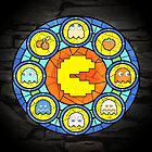 In the House of Wakka Wakka Wakka - Pac-man Stained Glass by AcidCrashX