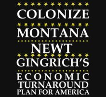 Newt Gingrich - Colonize Montana by BNAC - The Artists Collective.