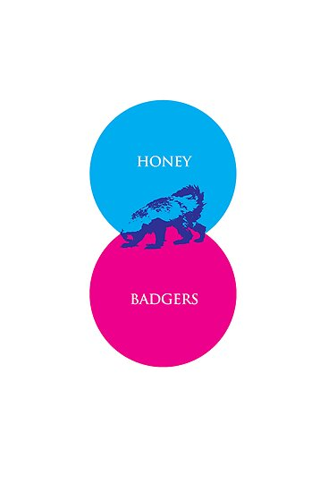 Honey Badger Venn Diagram by jezkemp