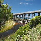 Trestle and Stream by Paul Bech