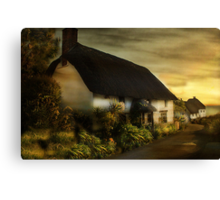Cottage in Cornwall . Canvas Print
