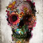 Floral Skull by Ali Gulec