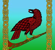 Celtic Raven by ingridthecrafty