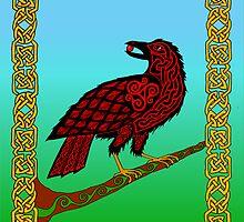 Celtic Raven by ingridthecrafty