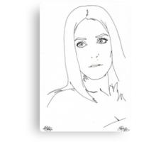 gillian anderson pen out line Canvas Print