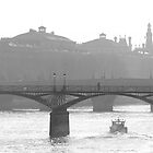 bridge over the river seine - b&amp;w version by kchamula