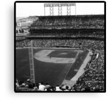 At&t Park: Baseball Photograph Canvas Print