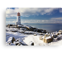 Snow Capped Peggy's Canvas Print