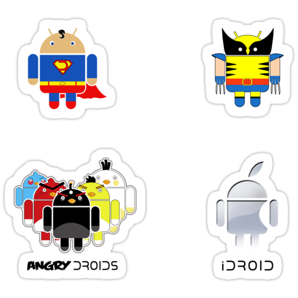 Droid Sticker Pack by weRsNs