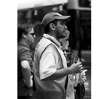 The Big Issue Seller - Brisbane CBD Photographic Print