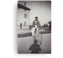 My mom bicycling 70 years ago...&-3500 visualizzaz.agosto 2013 --VETRINA RB EXPLORE 27 GENNAIO 2012 --- Canvas Print