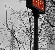 Paris Metro Sign by David Pringle