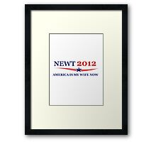 NEWT 2012: America Is My Wife Now Framed Print