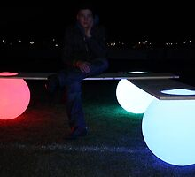 Glowing Light Ball Bench by Manfred Kielnhofer by kielnhofer