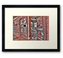 Rusted Open Framed Print